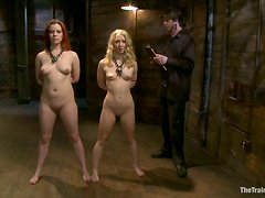 Lilla Katt and Nicki Blue get tied up and beaten in a cellar