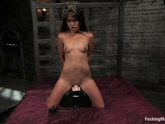 Horny Babe Has An Amazing Time With Fucking Machines