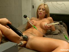 Busty Blonde Has A Great Time Fucking Machines