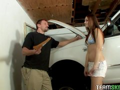Elizabeth Darling's Nailed By Her Driving Instructor