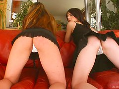 Slutty Ladies Have A Threesome With A Lucky Guy
