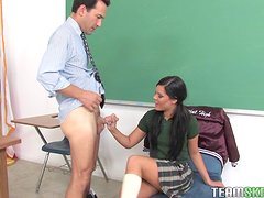 After School Sex Education For this Brunette