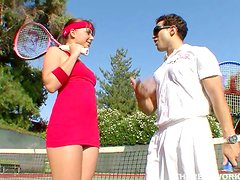 Horny Brunette Tennis Player Wants After Match Cock