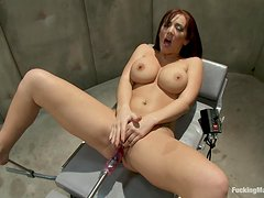 Sex Machine Takes Redhead to Pussy Heaven