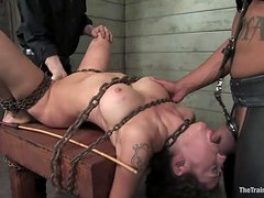 Busty Slave Is Fucked By Her Horny Masters