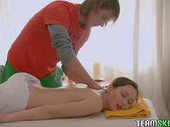Sexy Teen's Fucked By Her Boyfriend After Giving Her A Massage