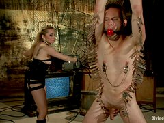 Horny Mistress Plays With Her Slave