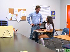 Naughty Teen Fucks Her Substitue Teacher