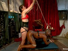 Hot Mistress Has A Great Time Fucking Her Servant With A Strapon