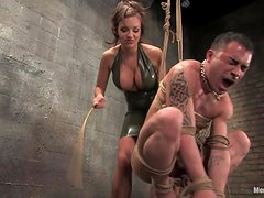Sexy Mistress Tortures And Fucks A Submissve Servant