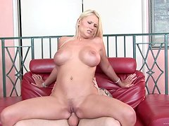 Fingering and Fucking a Busty Blonde MILF's Snatch