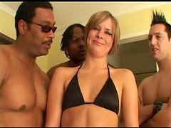 Gangbang Action Gets Claire Robbins A Messy Facial