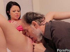 Loni Evans Rides An Old Man With A Big Long Cock