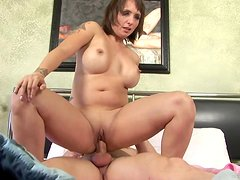 Kinky Mom Rides A Guy's Big Cock