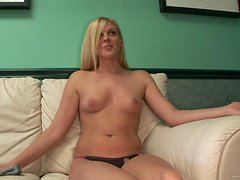 A Solo Interview With A Naughty Blonde Teen
