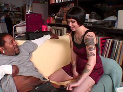 A Hot Interracial With A Tattooed Brunette