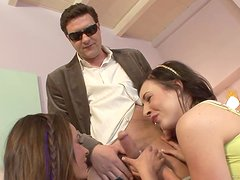 Older Guy Has A Threesome With Naughty Teens