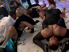 A Massive Orgy With Babes In A Party Clip