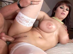 A Big Fat Cock For A Naturally Busty Brunette
