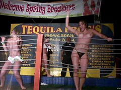 College Hottier Go Wild In A Wet Shirts Dancing Competition