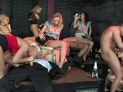 A Hot Orgy Inside The Club With Hot Babes