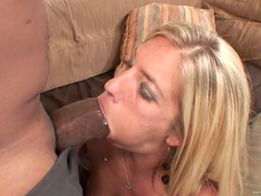 Sexy Blonde Loves Big Black Monster Cocks