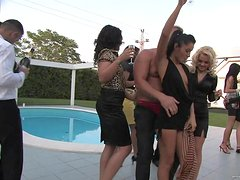 A Drunk Orgy By The Pool