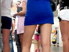 Horny voyeur loves filming under skirts