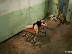 Two sexy chicks get humiliated in two separate BDSM actions