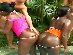 Outdoor interracial foursome with amateur friends