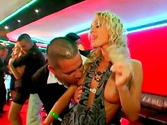 Lustful chicks get horny in wild orgy party