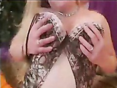 Fat Chubby Teen Ex GF playing with a black dildo