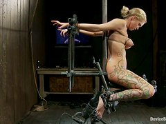 Bdsm - Rain DeGrey gets tortured and fucked with toy in BDSM clip