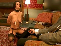 Cherry Torn gets humiliated by her master in a guest room