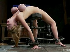 Insane breast bondage for an arched angel Katie Kox
