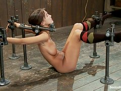 Painful orgasm for a kinky sex slave Alicia Stone