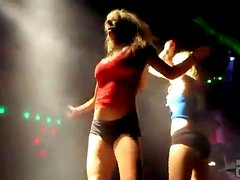 Sexy night club dancing features hot chicks