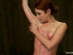 Amber Rayne gets chained and beaten in a hot BDSM scene