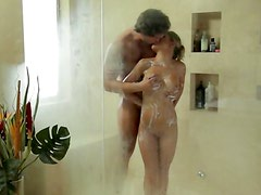 Amazingly hot girl shower fuck