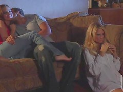 Hardcore lovemaking on the couch