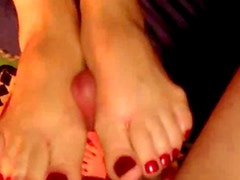 POV - Amateur Wife Gives Another Footjob