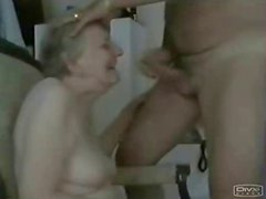Old neighbor paid to suck my cock. Amateur older