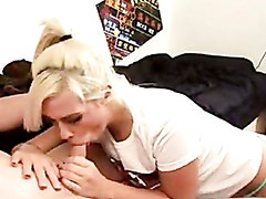 White young chick Tara Lynn stuffs her deep throat with a cock until she chokes