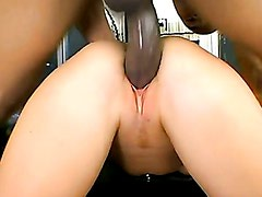 Leighlani Red getting drilled on her twat in the couch doggstyle