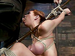 Massive boobs, a category 5 suspension & skull fucking.  Brutal bondage, devastating orgasms.  Art!