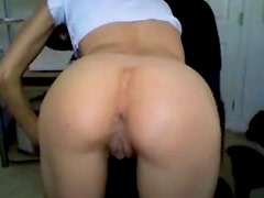 My nasty girlfriend showing her asshole on web cam