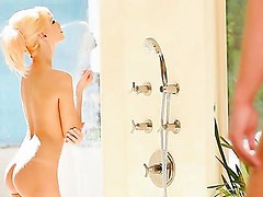 Beautiful Erica enjoys a relaxing shower when her boyfriend decides to join her. Together they share a moment of passionate love.