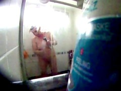 Mother in law in the shower