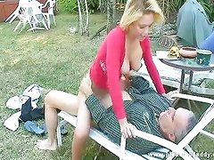 Old guy fucks daughters hot best friend