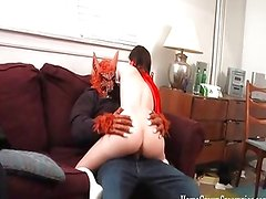Little red riding hood gets creampied